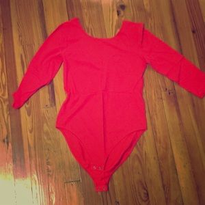 FINAL SALE Orange red GAP body suit with low back